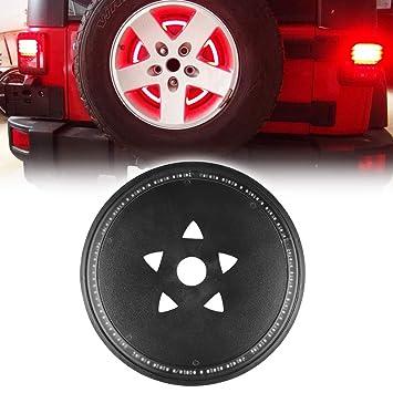 Rueda de repuesto rueda LED 3rd tercera luz de freno Lámpara Anillo para Jeep Wrangler JK: Amazon.es: Coche y moto
