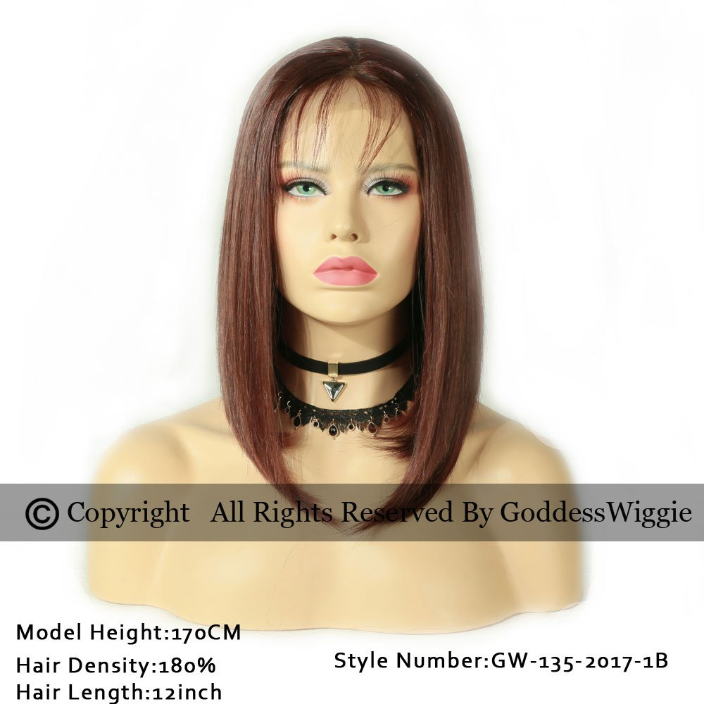 150%Density Lace Front Wigs Bob Ombre Human Hair Wig Glueless Wig With Baby Hair For Women (14inch 150%)