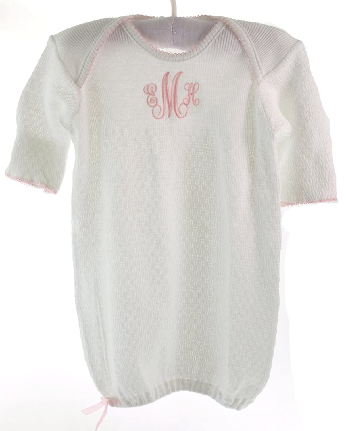 Amazon.com: Paty Inc Infant Baby Boys Take Home Gown White with Blue ...