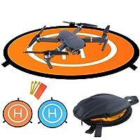 WisFox 80cm Landing Pad per RC Drone Quadcopter Helicopter Con 4 Punti Fissi, Impermeabile / Pieghevole, Pad di Atterraggio per DJI Mavic Pro / DJI Spark / DJI Inspire / Phantom 2 3 4 & DeeRC Predator