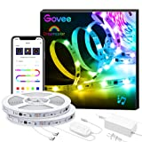 Govee 32.8Ft LED Strip Lights App Control, Bluetooth Light Strip with Segmented Color Control and Smart Color Picking, Dreamcolor Music Sync Led Lights for Room, Bedroom, Kitchen, Christmas Decoration (Color: Multicolor, Tamaño: 32.8 FT)