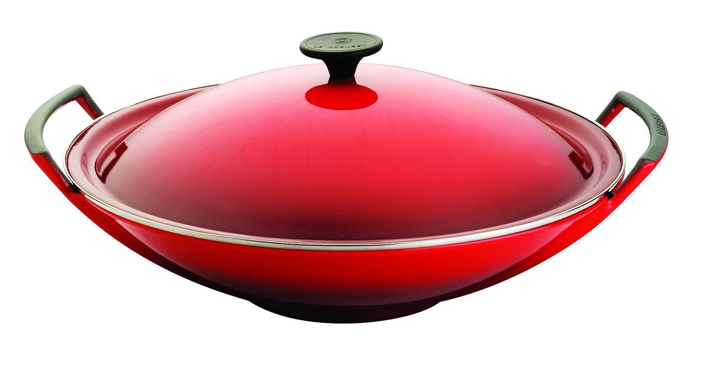 Le Creuset 26104360600460 Wok 5-Piece Set 36 cm Cherry Red: Amazon ...