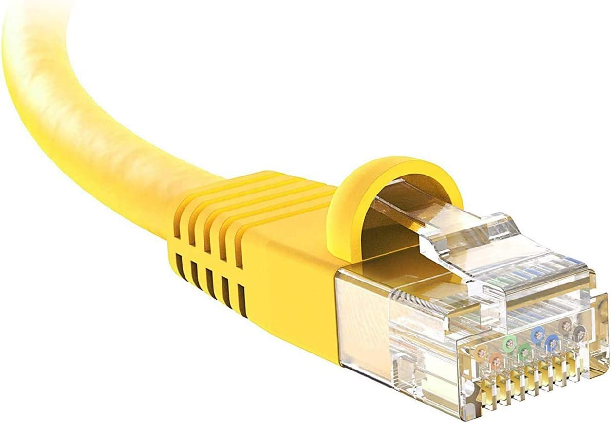 1Gbps Network//Internet Cable BoltLion BL-696933 Snagless Cat5e RJ45 Ethernet Cable 1 Feet 6 Pack 350MHZ Yellow Professional Series