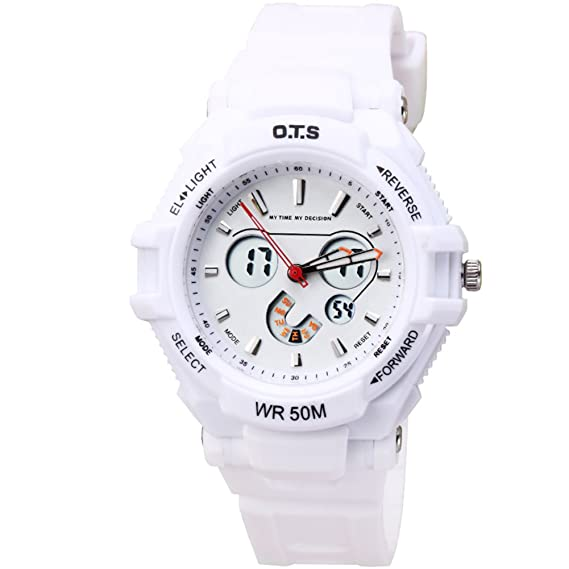 Mens reloj digital digital luminoso piscina relojes deportivos impermeables-C: Amazon.es: Relojes