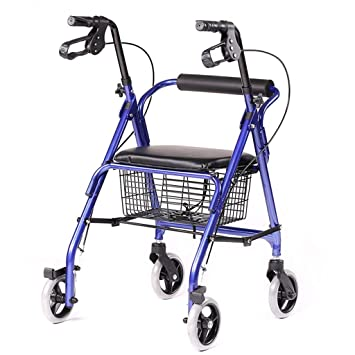 XCY Caminar ayuda médica Instrumentos Walker Andador plegable de 4 ...