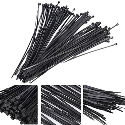 高価値セリー 100Pcs B07433BW4Z Plastic Nylon Cable Strap Ties Zip Ties Wire Wrap Strap B07433BW4Z, 地図柄とメンズバッグの店MODE DIO:b1fa6b1f --- arianechie.dominiotemporario.com