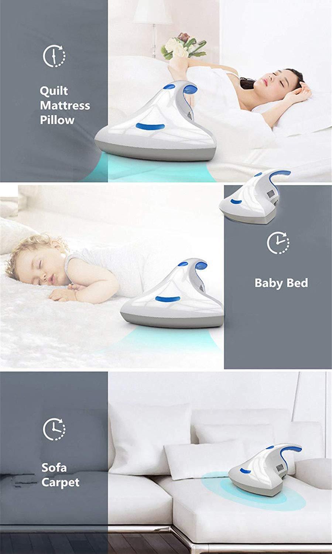 tappeti e Altro TAHLD UV Aspirapolvere Anti Potente per rimozione Acari della Polvere per materassi divani Cuscini Tende