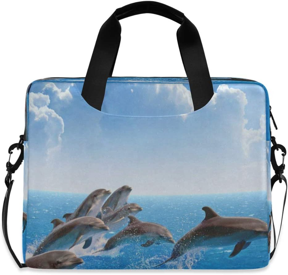 Jumping Dolphin Laptop Case 15.6 Inch Carrying Protectiv Case with Strap