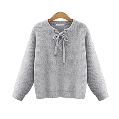 Haroty Femmes Pull Tricoter Grande Taille Manches Longues Couleur unie Loose Sweater Oversized Tops Blouse Sizes XL-5XL