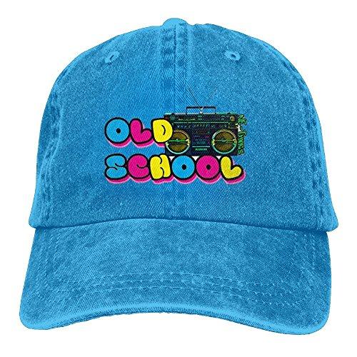Buecoutes Old School Boombox Premium Cowboy Baseball Caps Dad Hats RoyalBlue