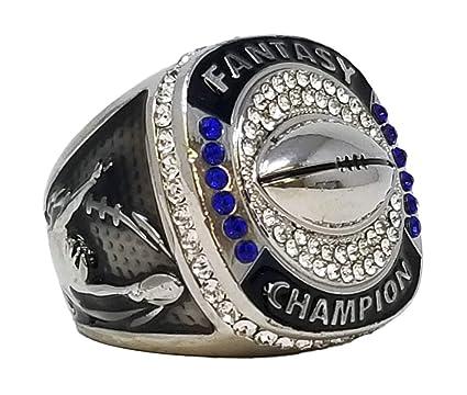 8b597cdef87 Amazon.com   Decade Awards Silver Fantasy Football Champion Ring ...