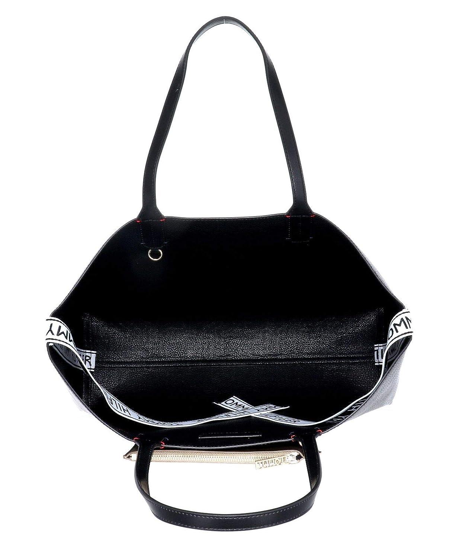 Black Cabas femme 15.3x0.1x43.2 cm W x H L Noir Tommy Hilfiger Iconic Tote