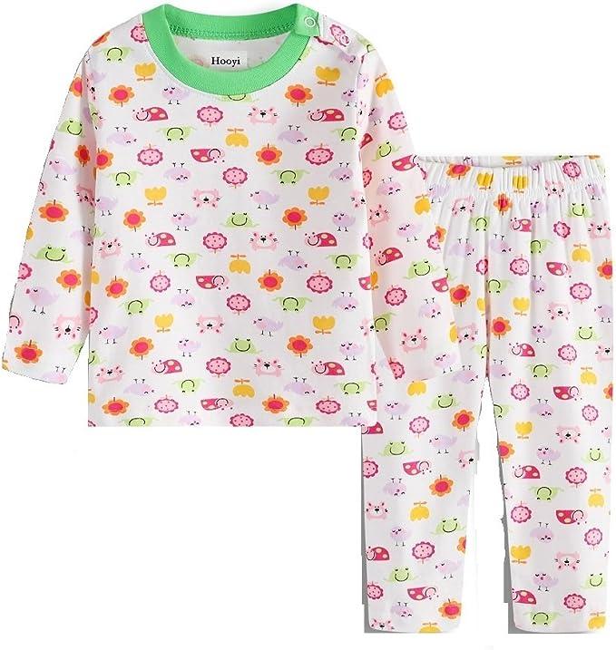 Amazon.com: hooyi bebé para pijamas de niña trajes de ...