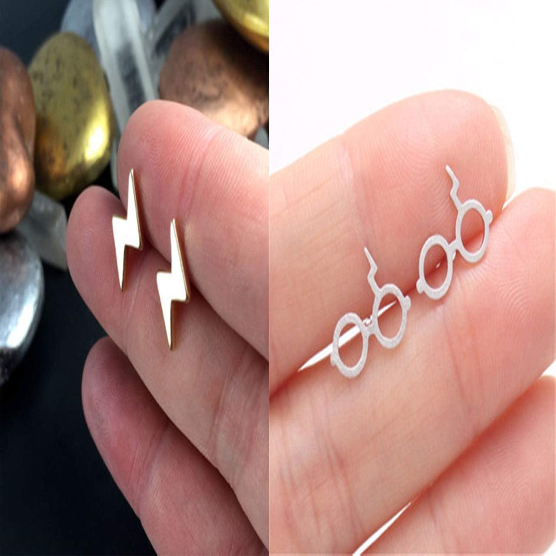 YouU 6 Paires Boucles D/'oreillelot Reliques de la mort//Golden Snitch//Plate-forme 9 3//4 Bijoux de Styles Multiples avec Bo/îte