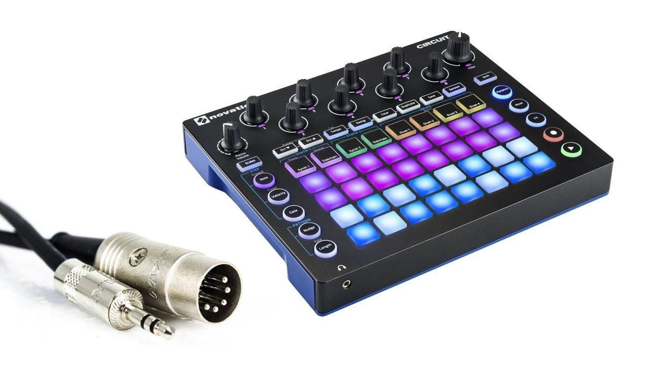Novation Circuit Groove Box + Sample Import w/ 1/8'' MIDI Cable & Ableton