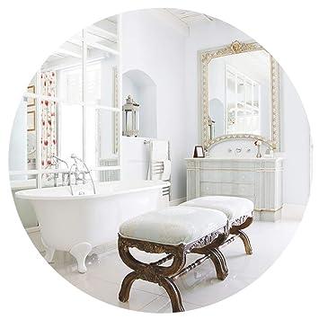 Amazon.com: Frameless Round Wall Mirror - Modern Bedroom ...