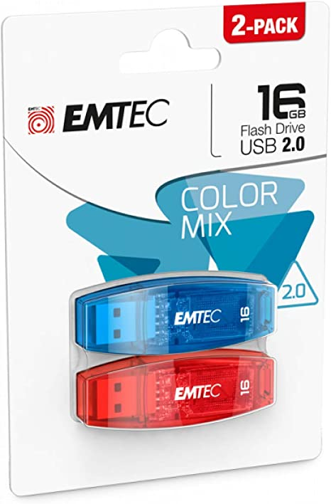 Emtec ECMMD16GC410CB 2 Pack - Memoria USB 16384 MB: Amazon.es ...