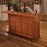 Cheap Hillsdale Classic Oak Large Home Bar Unit