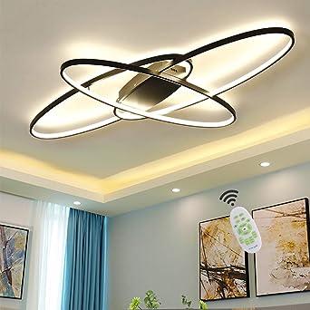 Wohnzimmerlampe LED Deckenleuchte Modern Chic Oval Decke Dimmbar  Deckenlampe, Schlafzimmerlampe mit Fernbedienung Acryl Lampenschirm Design  Lampe für ...