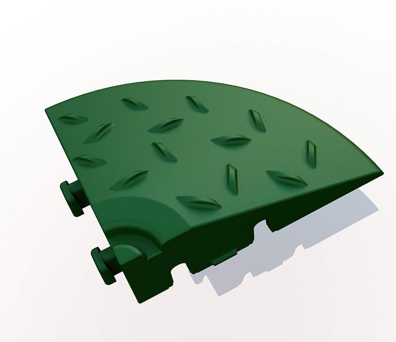 Balkonfliese Terrassenfliese 8, gr/ün Bodenrost aus Kunststoff ab 4 St/ück Eckelement f/ür Bodengitter Rasenfliese 60 x 60 x 18 mm