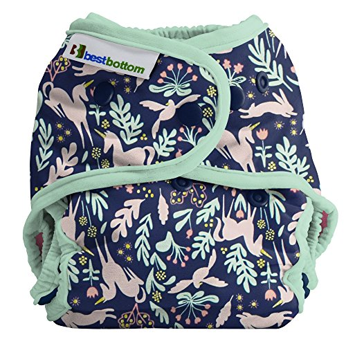 Cloth Diapers by Best Bottom | Cotton Shell - Made in USA by USA Company - Enchanted Unicorn Sage Trim