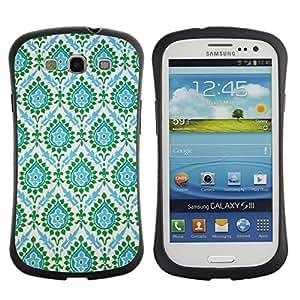Suave TPU GEL Carcasa Funda Silicona Blando Estuche Caso de protección (para) Samsung Galaxy S3 I9300 / CECELL Phone case / / Indian Vintage Teal Blue /