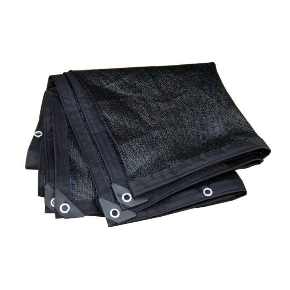 XIAOLIN 90%日焼け止めシェード布、黒温室シェードネット8ピン紫外線保護シェードセール (サイズ さいず : 6X8m) 6X8m  B07Q5FLZJ1
