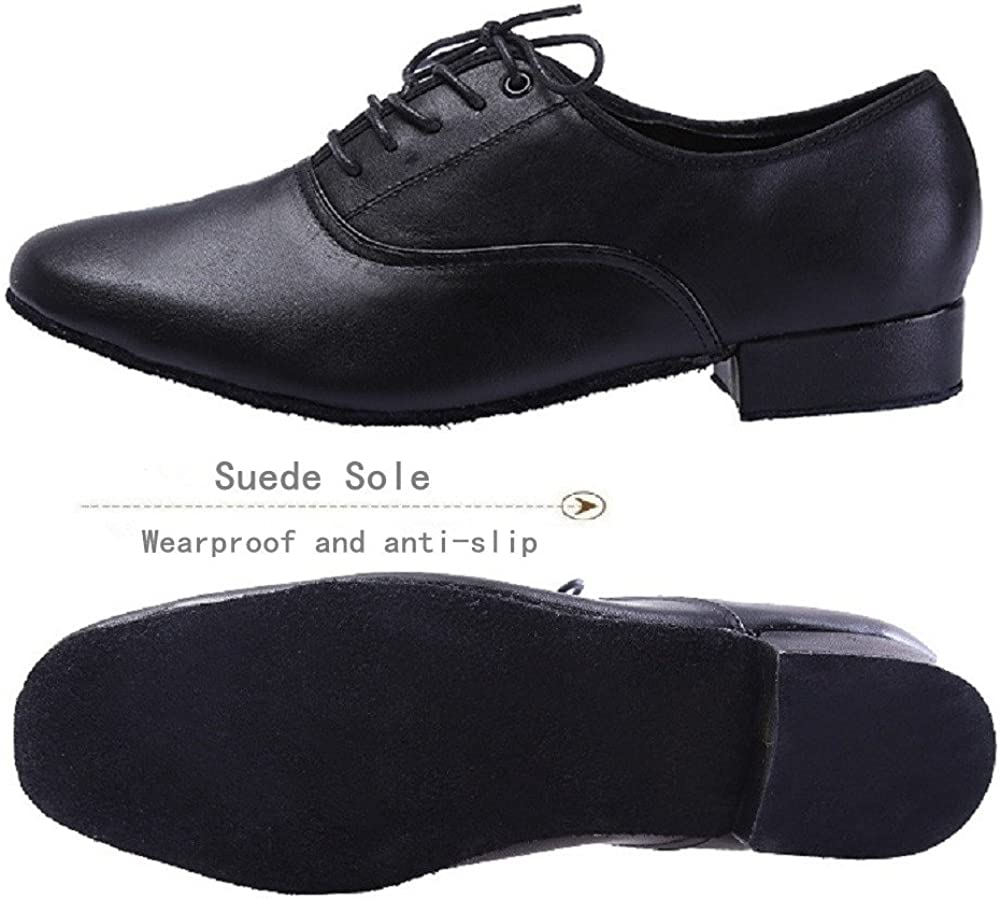 M BeiBestCoat Men/'s Classic Lace-up Leather Dance Shoes Modern Dancing Shoes US // 38 6.5 D Black