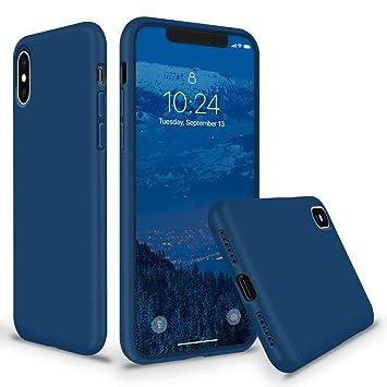 coque iphone xs max silicone bleu