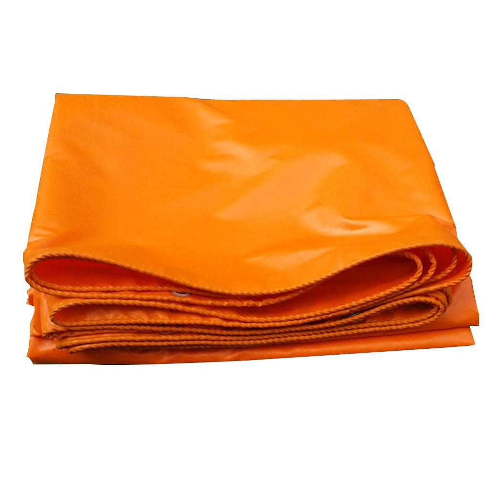 PENGFEI Orange Tarpaulin Waterproof Picnic Mat Sun Protection Shade Truck Dust-proof Shed Cloth Linoleum, PVC, Thickness 0.40mm, -420 G/M², 10 Size Options (Size : 2 x 2m)