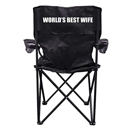 VictoryStore Outdoor Camping Chair   Custom Black Folding Camping Chair  With Carry Bag.