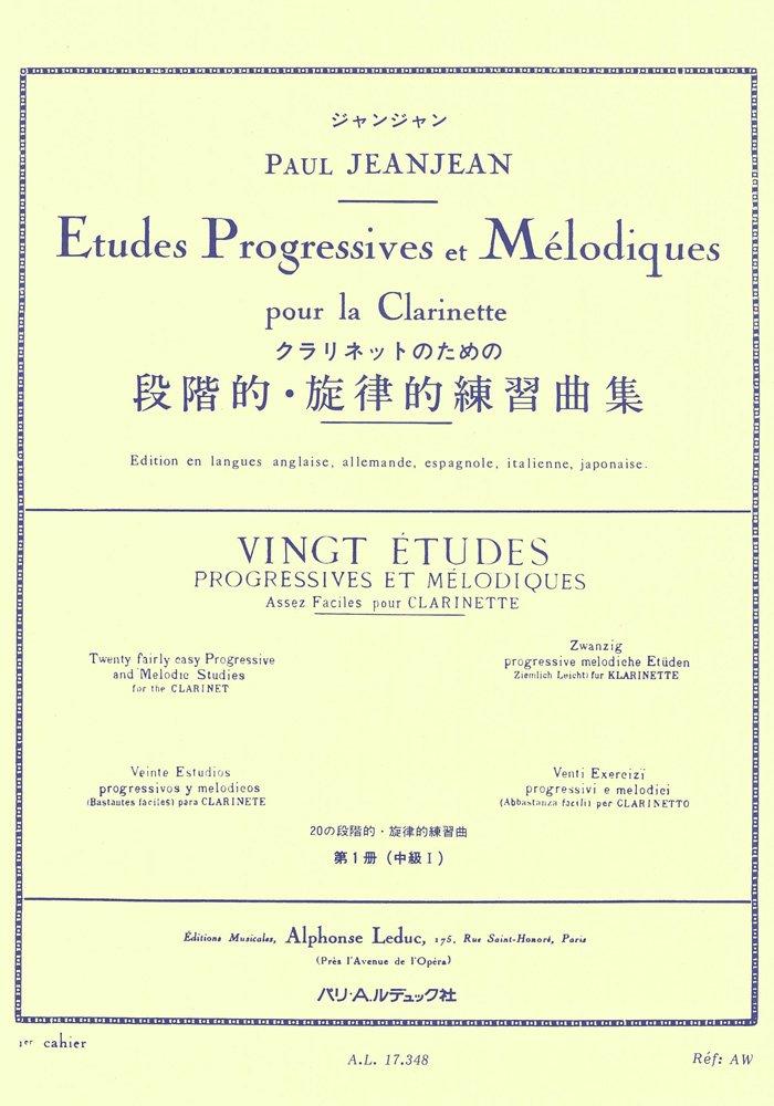 20 Etudes 1 Progressives et Melodiques. Klarinette
