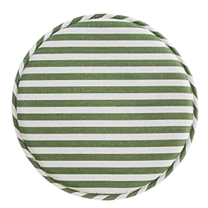 Exceptionnel Japanese Style Round Non Slip Chair Cushion Chair Seat Pad, Green U0026 White  Stripes