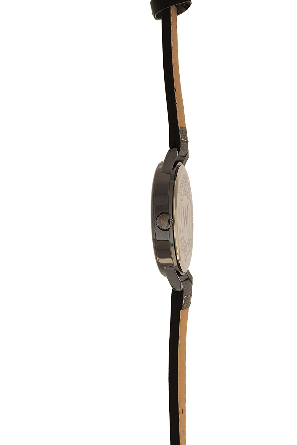 Wrangler Unisex Watch, 42mm with Natural Band White Stitching, Oversized Crown, Water Resistant
