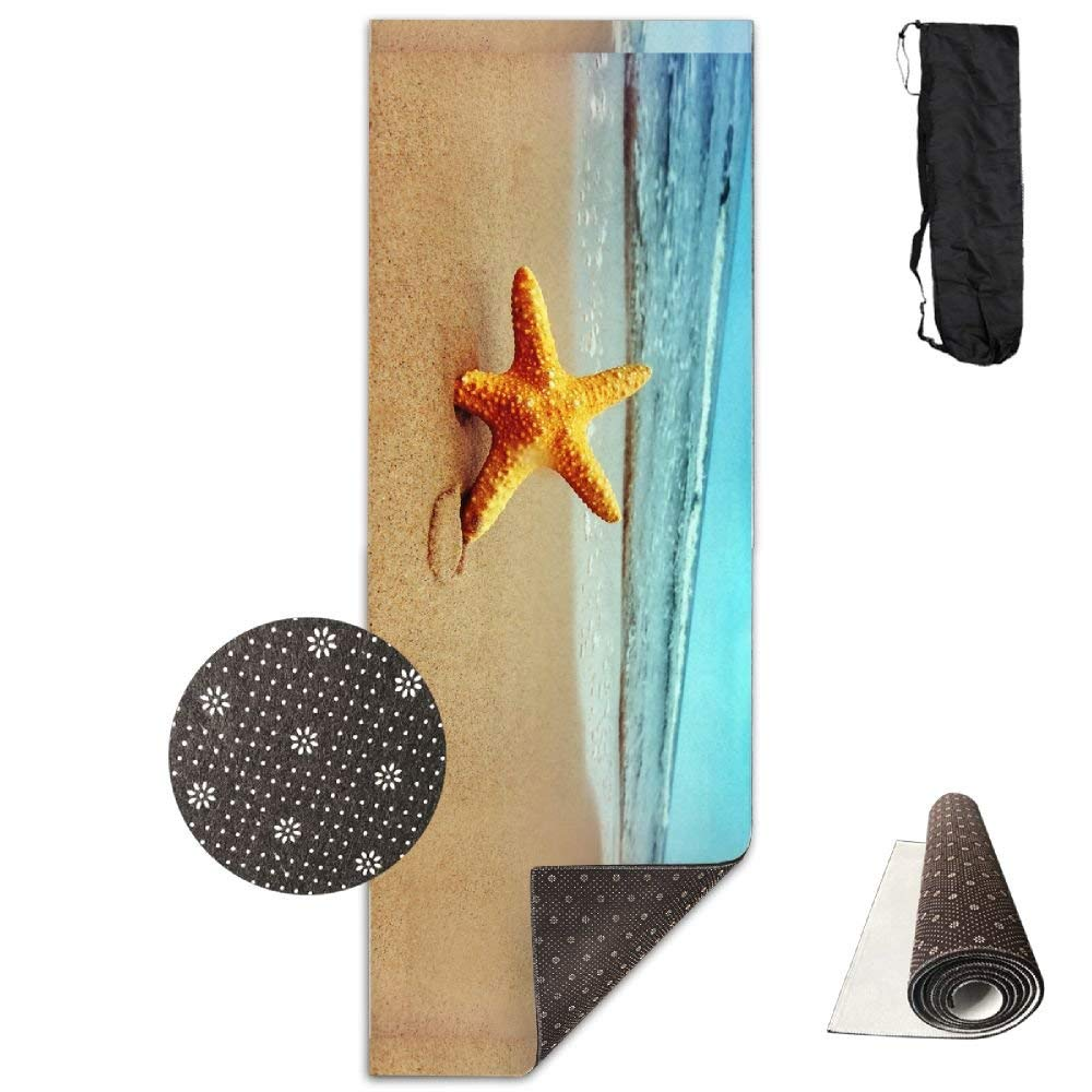 Starfish On The Beach Deluxe,Yoga Mat Aerobic Exercise Pilates Anti-slip Gymnastics Mats