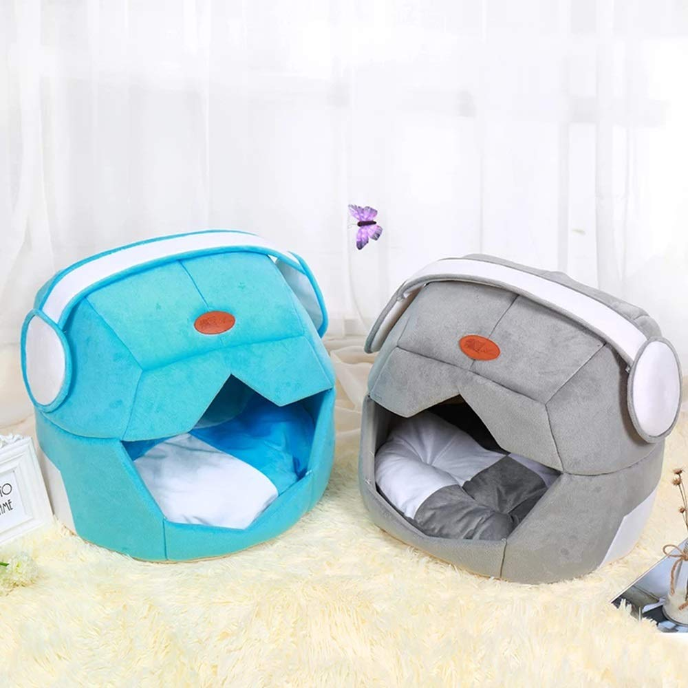blu sky-canile Warm Pet Nest Creative Space Space Space cap Dog Letti Teddy Kennel Fluff Morbido Lavabile Piccolo Cane Medio (colore   Grigio, Dimensione   M) fa5096