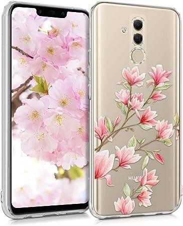 Kwmobile Hülle Kompatibel Mit Huawei Mate 20 Lite Handyhülle Handy Case Magnolien Rosa Weiß Transparent Elektronik