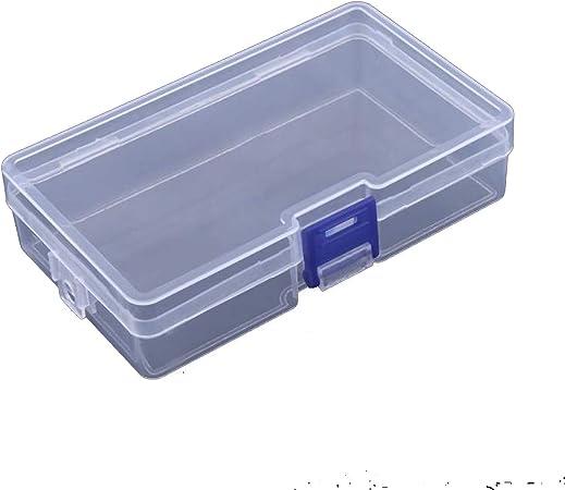 Girl-Shop Storage box Toolbox - Caja de plástico electrónica para Herramientas (Incluye Caja para Coser Tornillos), Color Transparente: Amazon.es: Hogar