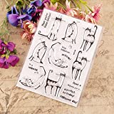 YULEKITO Fun Expressions Meow Cats Clear Stamps for