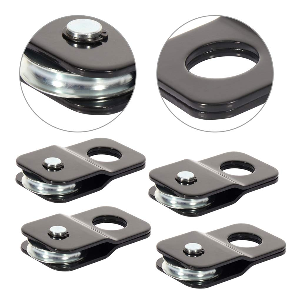 SCITOO 4PCS Universal Heavy Duty Recovery Winch Snatch Block Pulley 8000 lb (4 Ton) by SCITOO
