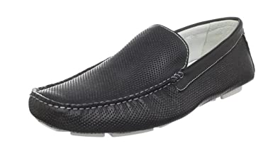 Men's Cozzo Black Smooth Loafer