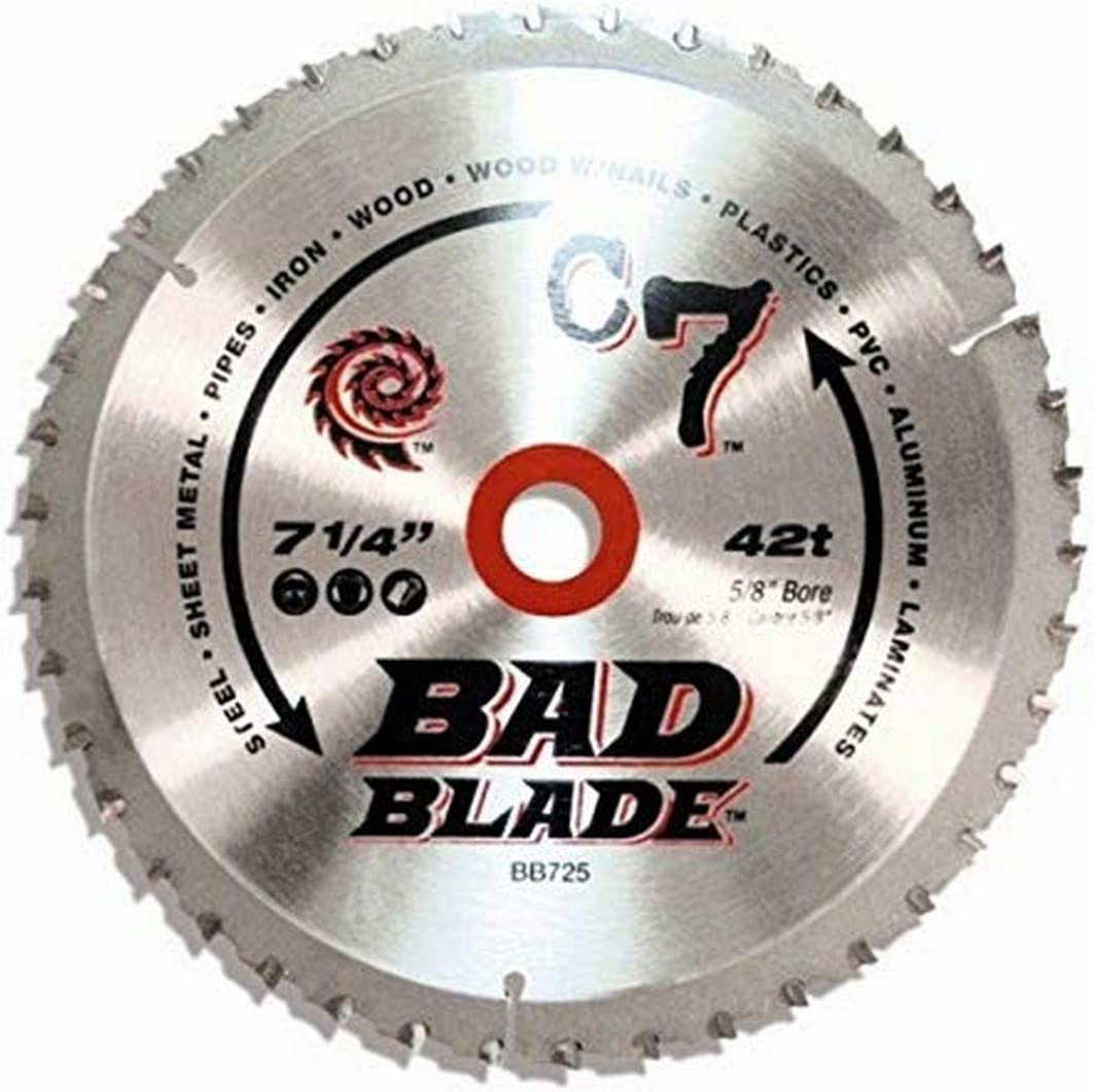 Kwiktool Usa Bb450 C7 Bad Blade 4-1//2-Inch 24 Tooth With 1-Inch Arbor And 7//8-In