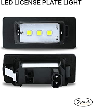 Gempro Number Plate Light 2 x LED License Number Plate Lights with Built-In CAN-bus and Error Free Waterproof Rear Lamps Black Aluminium For E82 E90 E93 E39 E60 F07 F10 F18 F25 E70 F15