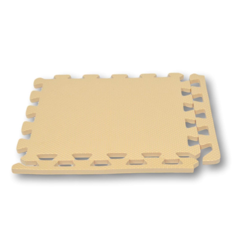 8f68b1bba87 Bordes rectos para alfombra de goma EVA. 12 piezas. Crema.  Amazon.es   Juguetes y juegos