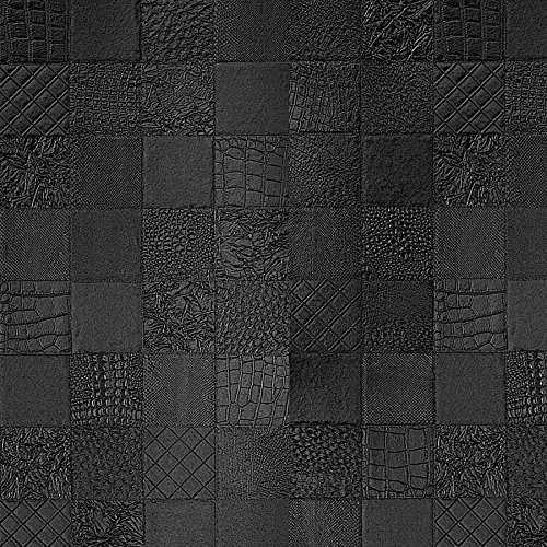 WallFace 15031 COLLAGE Wall panel leather 3D interior luxury wallcovering decoration self-adhesive black | 2,60 sqm by Wallface (Image #4)
