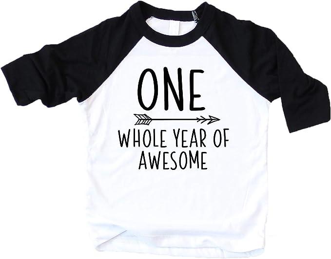 Amazon.com: Traje de primer cumpleaños para niño con texto ...