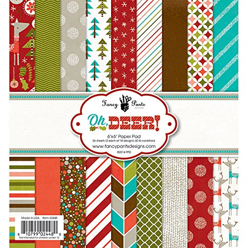 Fancy Pants Designs Oh Deer Paper Pad 6 by 6-Inch