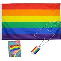 MJB Inspired Gay Pride Rainbow Flag. Robust Full Size 3 ft X 5 ft Polyester Pride Flag is Suitable for Indoor or Outdoor…
