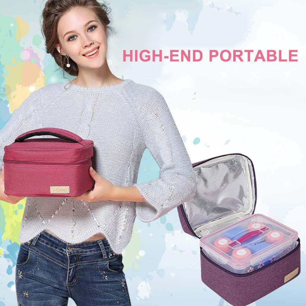 Steellwingsf Multifunktionale Picknick-Isolationstasche Aufbewahrungstaschenhalter F/ür S/äuglinge Picknick-Mittagessen Beige Babys Muttermilchk/ühler Kindertagesst/ätten