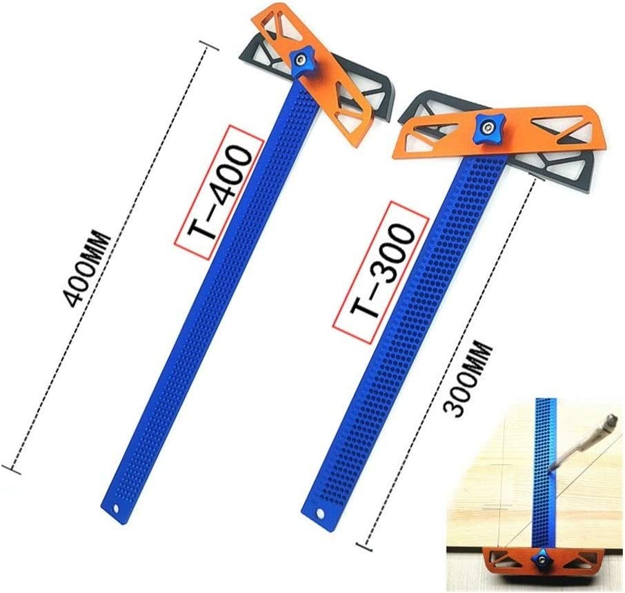 XINGJIJIJIA Quickly T300/T400 Carpenter tools T Type Square Ruler Woodworking Aluminum Alloy Scriber Measuring Carpentry Marking Tool Gauge Gauging ideal (Color : T400) T400